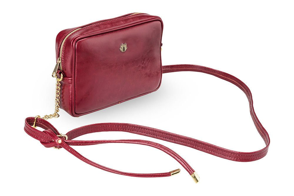 ba62b6b520785 ... Genuine leather women s crossbody Florence burgundy Click to zoom ...