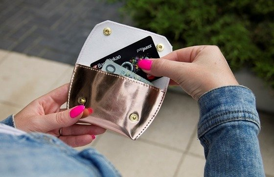 Coin wallet FELICE FA15 METALLIC PINK