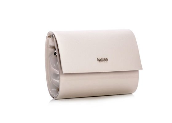 Cream women's Clutch bag Felice F14C CREAM PATTERN
