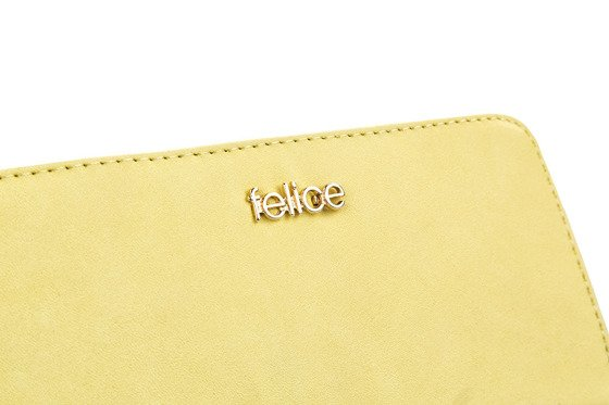 Elegant Women's leather wallet Felice P02A Yellow