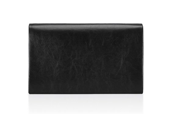 Genuine leather Clutch bag Felice F13GOLD Black