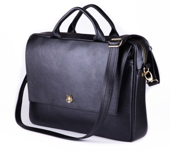 Genuine leather woman's laptop bag FL14 Rimini black