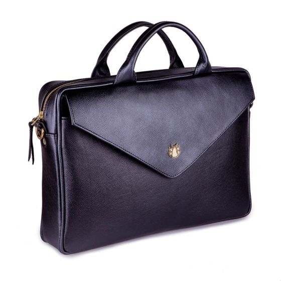 Genuine leather woman's laptop bag FL15 Positano black