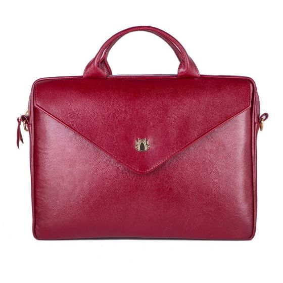 Genuine leather woman's laptop bag FL15 Positano burgundy