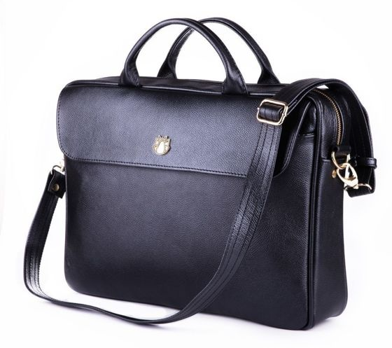 Genuine leather woman's laptop bag FL16 Sorrento black