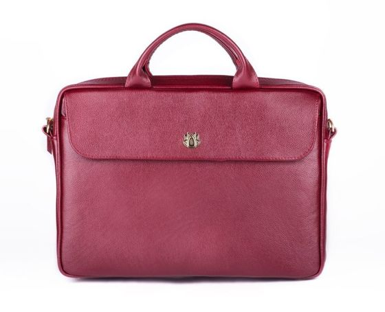 Genuine leather woman's laptop bag FL16 Sorrento burgundy