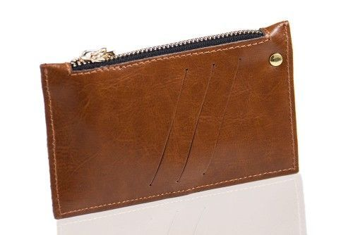 Genuine leather woman's wallet P07 burgundy