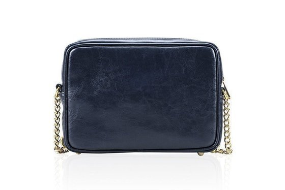 Genuine leather women's crossbody Florence navy