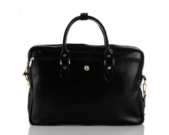 Genuine leather women's laptop bag Marina black