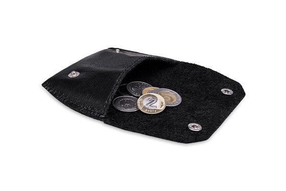 Leather coin wallet FELICE FA10 BLACK