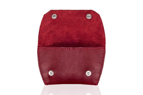 Leather coin wallet FELICE FA10 RED