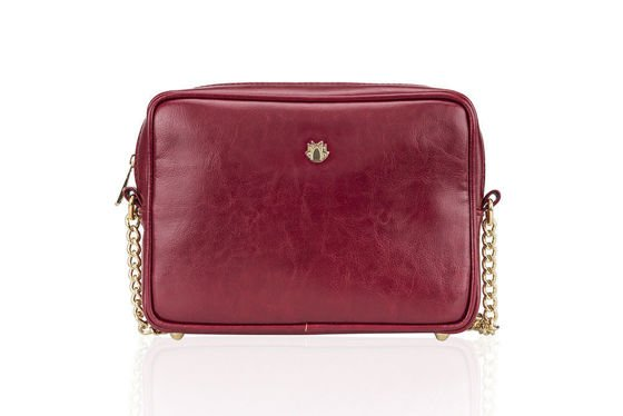 Leather crossbody Felice Gold Florence