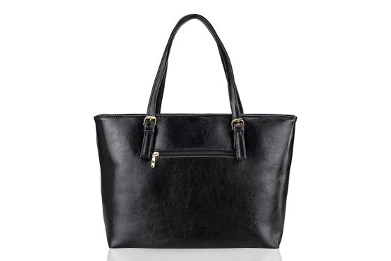 Leather shopper bag Felice Gold Luna