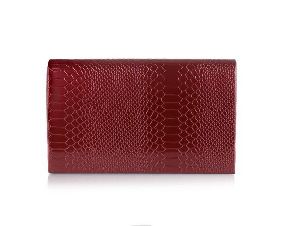 Women's Clutch bag Felice F13G burgundy shiny snake