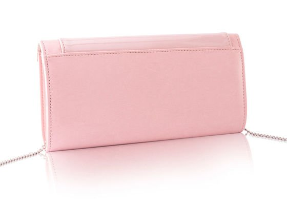 Women's Clutch bag with chain Felice F18 Dark Pink