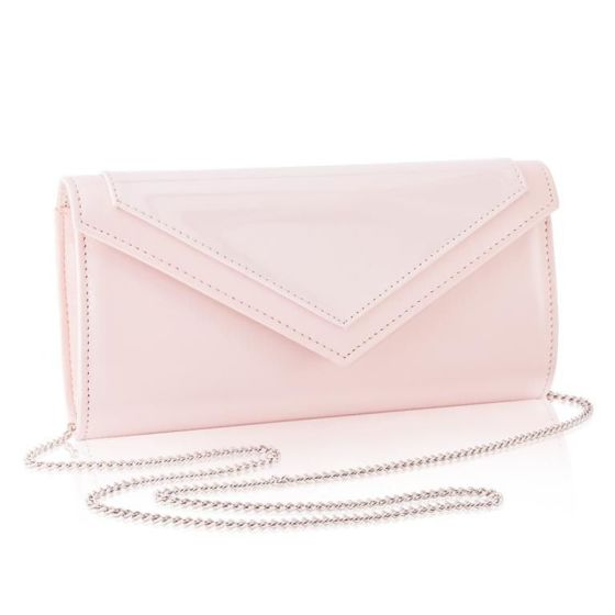 Women's Clutch bag with chain Felice F18 Light Pink