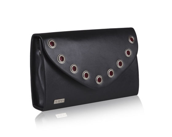 Women's Clutch bag with chain Felice F21 black