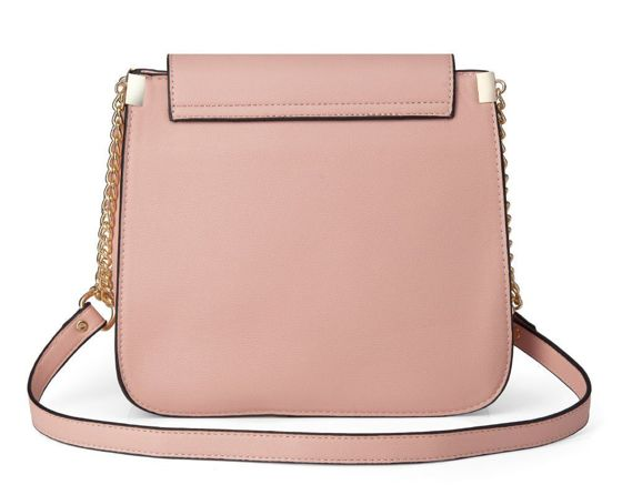 Women's crossbody with chain strap Felice Rossel FB42 pink