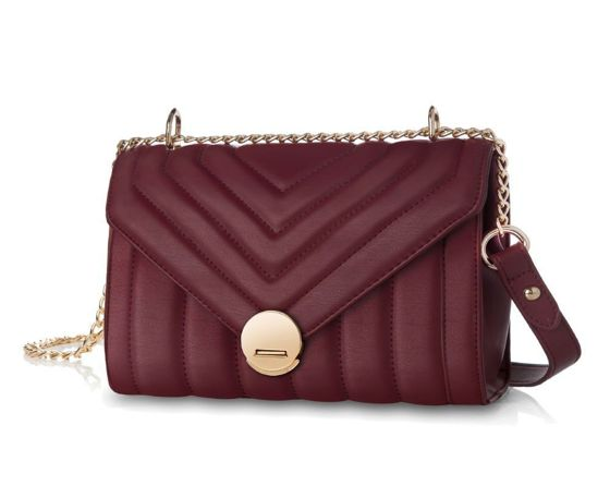 Women's quilted crossbody bag Felice Zoe FB39 burgundy