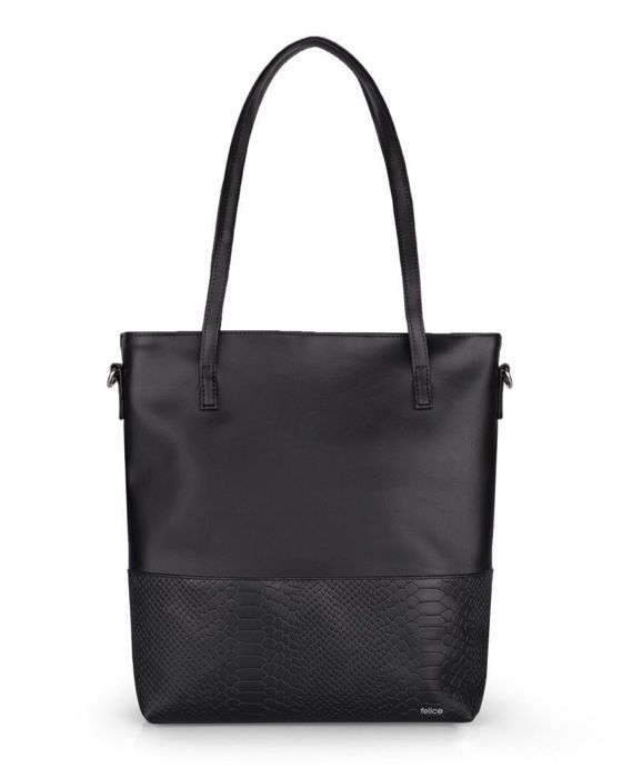 Women's shopper bag Felice FB45 black snake