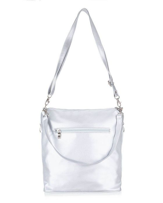 Women's shopper bag Felice FB47 silver