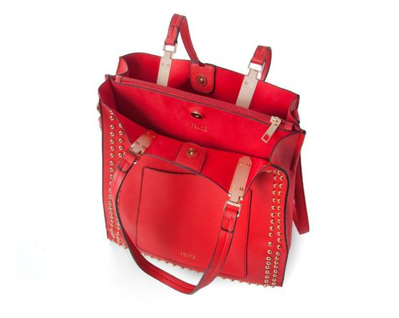 Women's shopper bag Felice Stella FB36 red